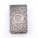 1884 Sterling silver matchbox holder