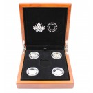 2014 O' Canada  $25 .9999 Fine Silver Proof set of 4 coins