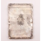1874 Victorian silver Card Case George Unite