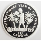 Turks and Caicos Islands 10 Crowns silver coin 1982 Gem Cameo Proof
