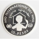 Dominican Republic 10 Pesos silver coin 1982 Year of The Child