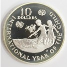 1982 Cayman Islands $10 silver coin Year of The Child Gem Cameo Proof
