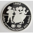 Panama 10 Balboas silver coin 1982 Year of The Child