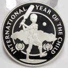 Jamaica 1979 $10 silver coin Year of The Child Gem Cameo Mirror Proof