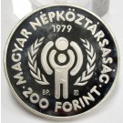 Hungary 1979 200 Florint silver coin Choice Cameo Proof