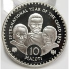 Lesotho 1979 10 Maloti silver coin Year of The Child Choice Cameo Proof