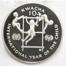 1980 Zambia 10 Kwacha silver coin Year of The Child Gem Cameo Proof