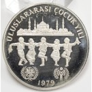 Turkey 1979 500 Lira silver coin Year of The Child Choice Proof