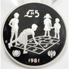 1981 Malta 5 Pounds silver coin Year of The Child GEM MIRROR CAMEO PROOF
