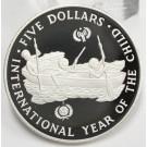 Solomon Islands 1983 $5 Dollars silver coin GEM MIRROR CAMEO PROOF