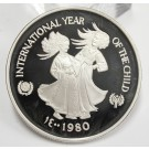 United Arab Emirates 50 Dirhams 1980 silver Coin Year of the Child