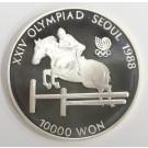 1988 Olympics Seoul Korea 10000 won silver coin EQUESTRIAN