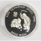1988 Olympics Seoul Korea 5,000 Won silver coin TOP SPINNING