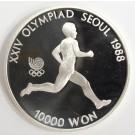 1988 Olympics Seoul Korea 10,000 Won silver coin RUNNING Gem Proof