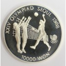1988 Olympics Seoul Korea 10,000 Won silver coin VOLLEYBALL Gem Proof