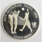 1988 Olympics Seoul Korea 10,000 Won silver coin FOOTBALL Gem Proof