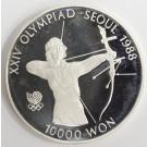 1988 Olympics Seoul Korea 10,000 Won silver coin THE ARCHER Gem Proof