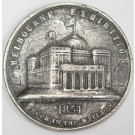 1854 Melbourne Exhibition Medal in white metal 38mm