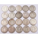 1954 Canada 50 Cents one roll of 20-coins contains