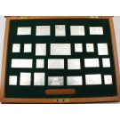 Stamps of Royalty 482 grams of .925 Sterling silver