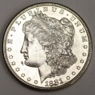 1881s Morgan Silver Dollar Gem Uncirculated