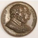 France 1814-1824 Louis XVIII and Henri IV bronze medal