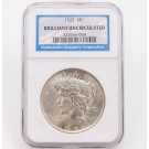 1922 Peace silver dollar NGC Brilliant Uncirculated