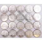 Canada 1965 TYPE-3 silver dollars 20-coins all Choice Uncirculated