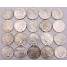 20x Peace silver dollars 10x 1922  and 10x 1923 20-coins