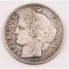 1850 A france 50 centimes silver coin Fine+ condition