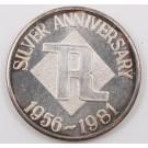 1981 1/2 ounce 999 silver RICHPLY Richmond BC 1956-1981 25th anniversary