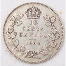 1932 Canada 10 cents VF+