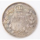 1913 Canada 10 cents VF30