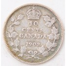 1903H Canada 10 cents nice Fine condition
