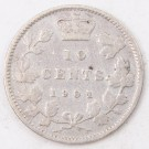 1901 Canada 10 cents nice VG/F condition
