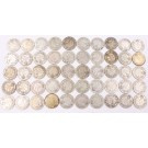 50x Canada 10 cents 17x1931 17x1932 2x1933 2x1934 12x1936 50-coins G-VG