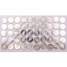 50x 1962 Canada silver 10 Cents silver Bluenose 50-coins Choice Uncirculated