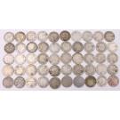 50x Canada 10 cents 3x1912 7x13 9x17 15x18 8x20 6x21 2x28 50-coins G to VG