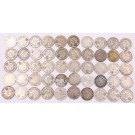 50x Canada 10 cents King George V 50-coins 12-dates VF & EF or better see list