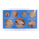 1982 New Zealand coin set Takahe 7-coins choice Proof condition