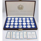 Olympics 1976 Montreal 28-coin set all Proof contains 30+ ounces pure silver