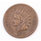 1876 Indian Head cent a/VF