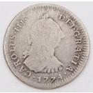 1774 Peru 1 Real silver coin Lima MJ KM#75 circulated