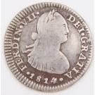 1814 Chile 1 Real silver coin Santiago-FJ KM-65 circulated