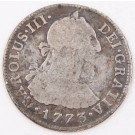 1773 Peru 2 Reales silver coin LIMA KM#76 circulated