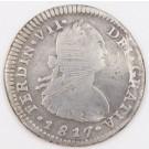 1817 Chile 1 Real silver coin Santiago-FJ KM-65 circulated