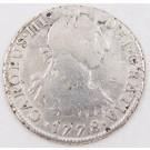 1778 Peru 2 Reales silver coin Lima MJ KM#76 circulated