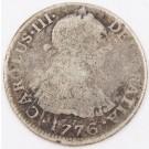 1776 Peru 2 Reales silver coin Lima MJ KM#76 circulated