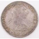 1777 Peru 8 Reales silver coin Lima MJ KM#78 EF