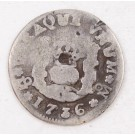 1736 Mexico 1/2 Real silver coin M KM-65 circulated
